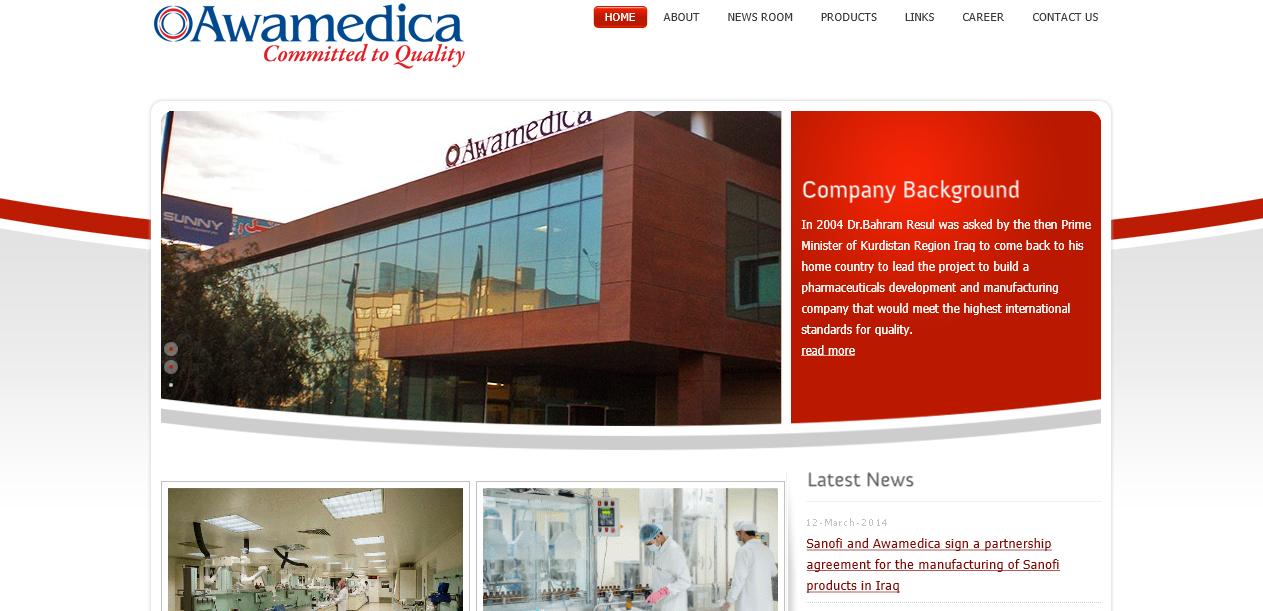 Awamedica.com – Pharmaceutical Website