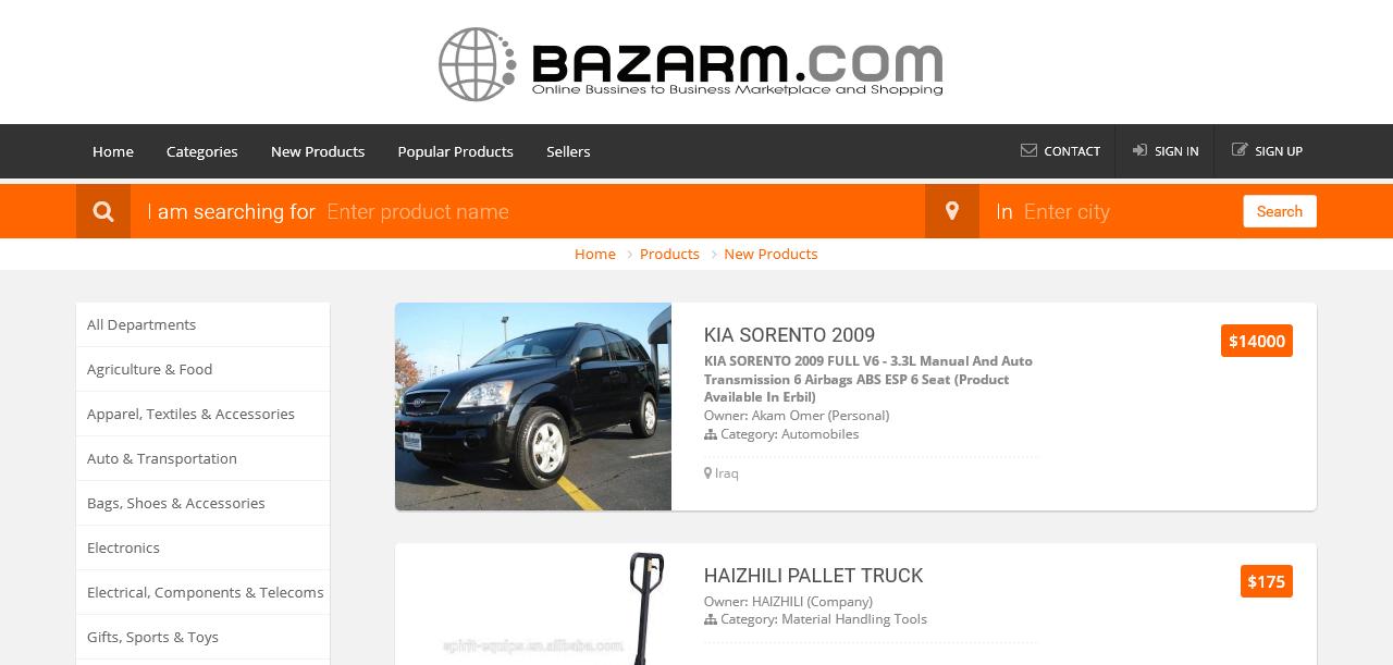 Bazarm.com – Online B2B Marketplace & Business Directory