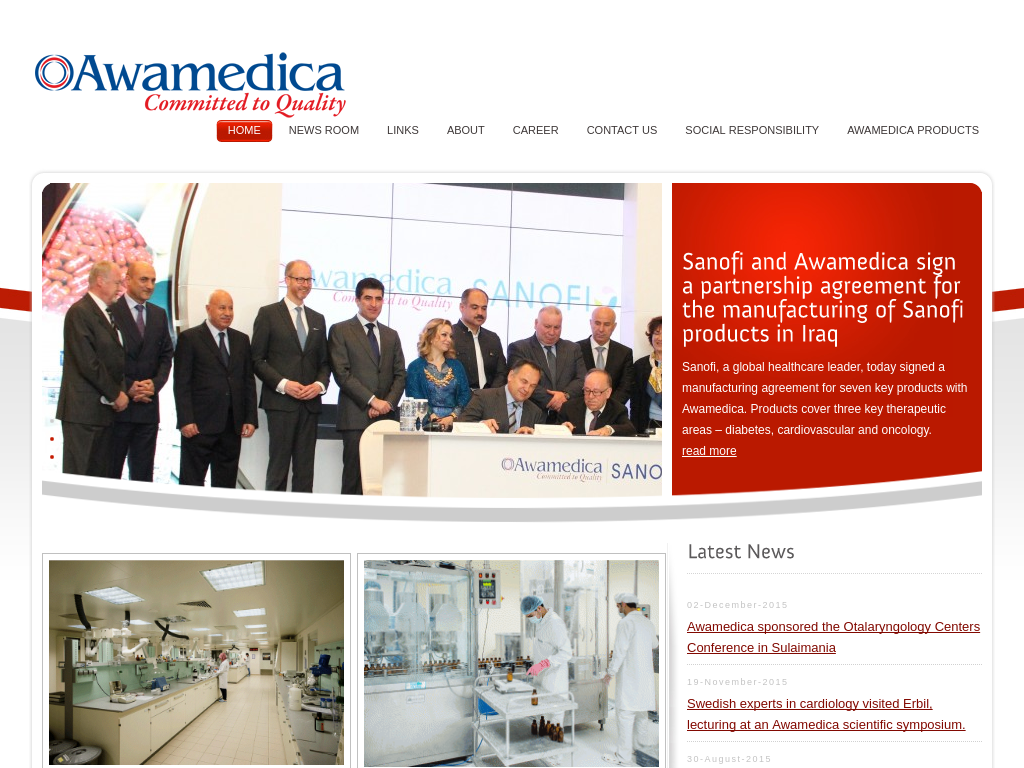 Awamedica.com – Pharmaceutical Website