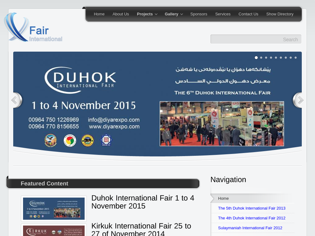 Diyarexpo.com – Business Website