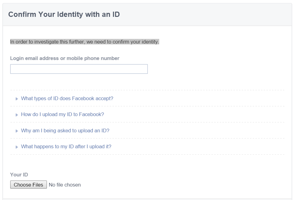 Facebook Contact Forms